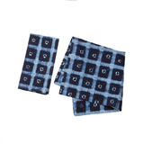 Allie Cotton Indigo Patterned Napkins