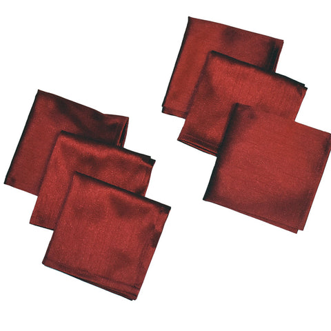 Ariana Red Silk Napkins (set of six)