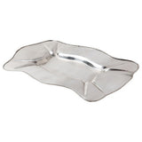 Axton Rectangular Silver Metal Tray (large)