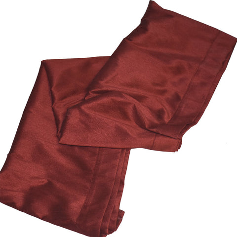 Aya Red Silk Table Runner