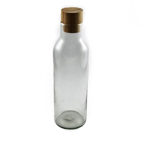 Cité Glass Carafe with Wood Decanter Stopper