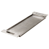 Cari Industrial Silver Metal Rectangular Serving Tray with Handles