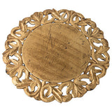 Dalia Golden Hand Carved Wood Charger (set of two)