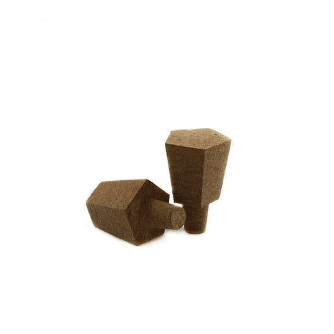 Geo Hex Cork Bottle Stoppers (set of 2)
