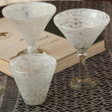 Ariel Handblown Glass Martini Glasses (set of four)