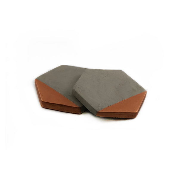 Hexagon Cement Coaster (Set of 2)
