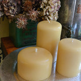 Anandi Unscented Hand Poured Beeswax Pillar Candle