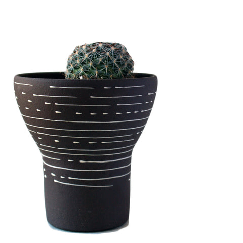 Polly Artisan Stoneware Brown Succulent Planter