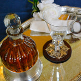 Amrit Glass Decanter with Silver Metal Holder