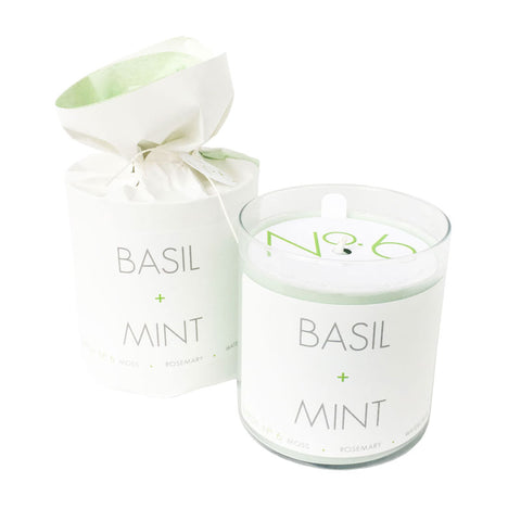 Basil + Mint Soy Candle