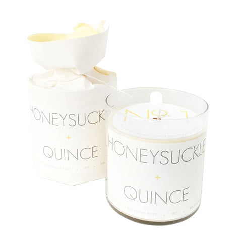 Honeysuckle + Quince Soy Candle