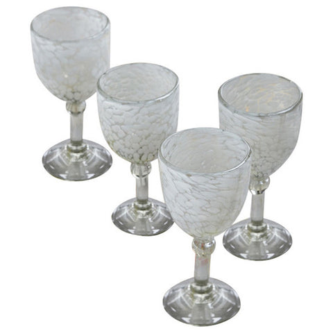 Phoebe Handblown Glass Goblets (set of four)