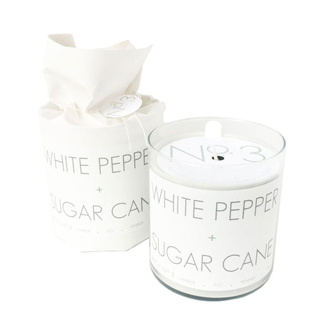 White Pepper + Sugar Cane Soy Candle
