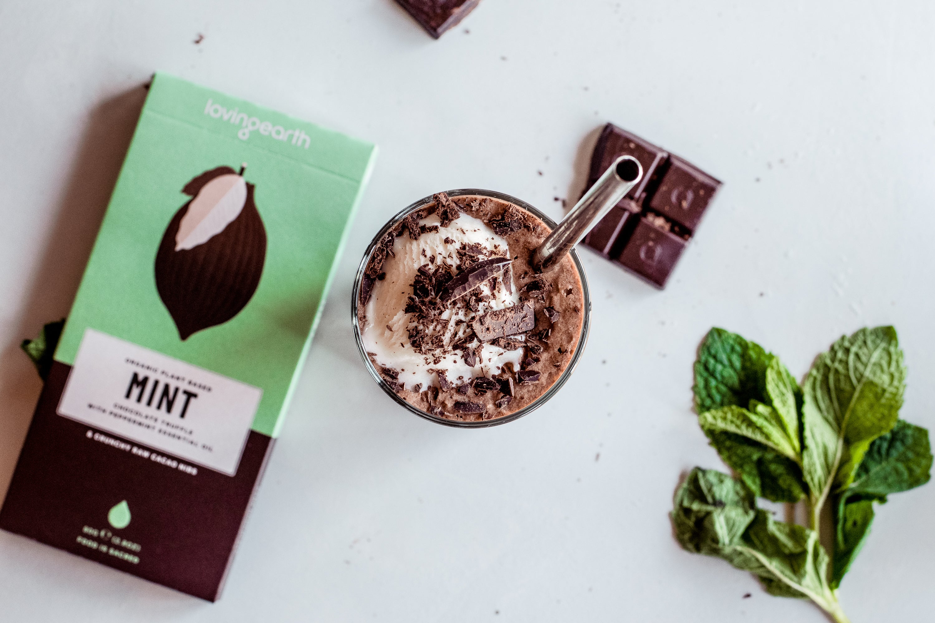 Vegan Mint Iced Chocolate by Loving Earth - Boody