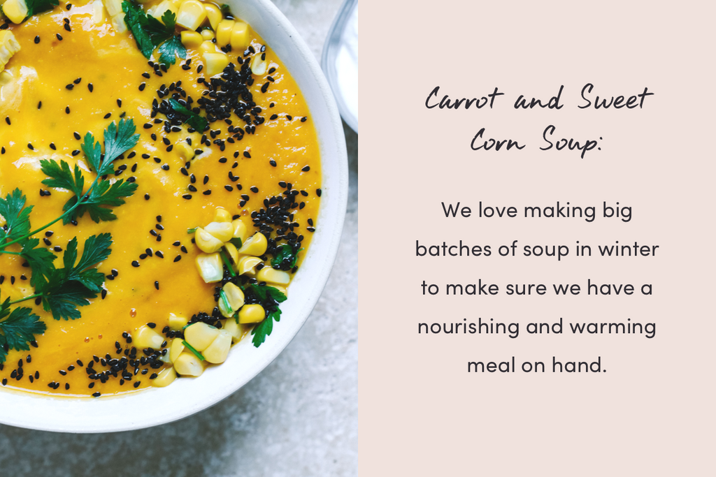 Carrot and Sweet Corn Soup