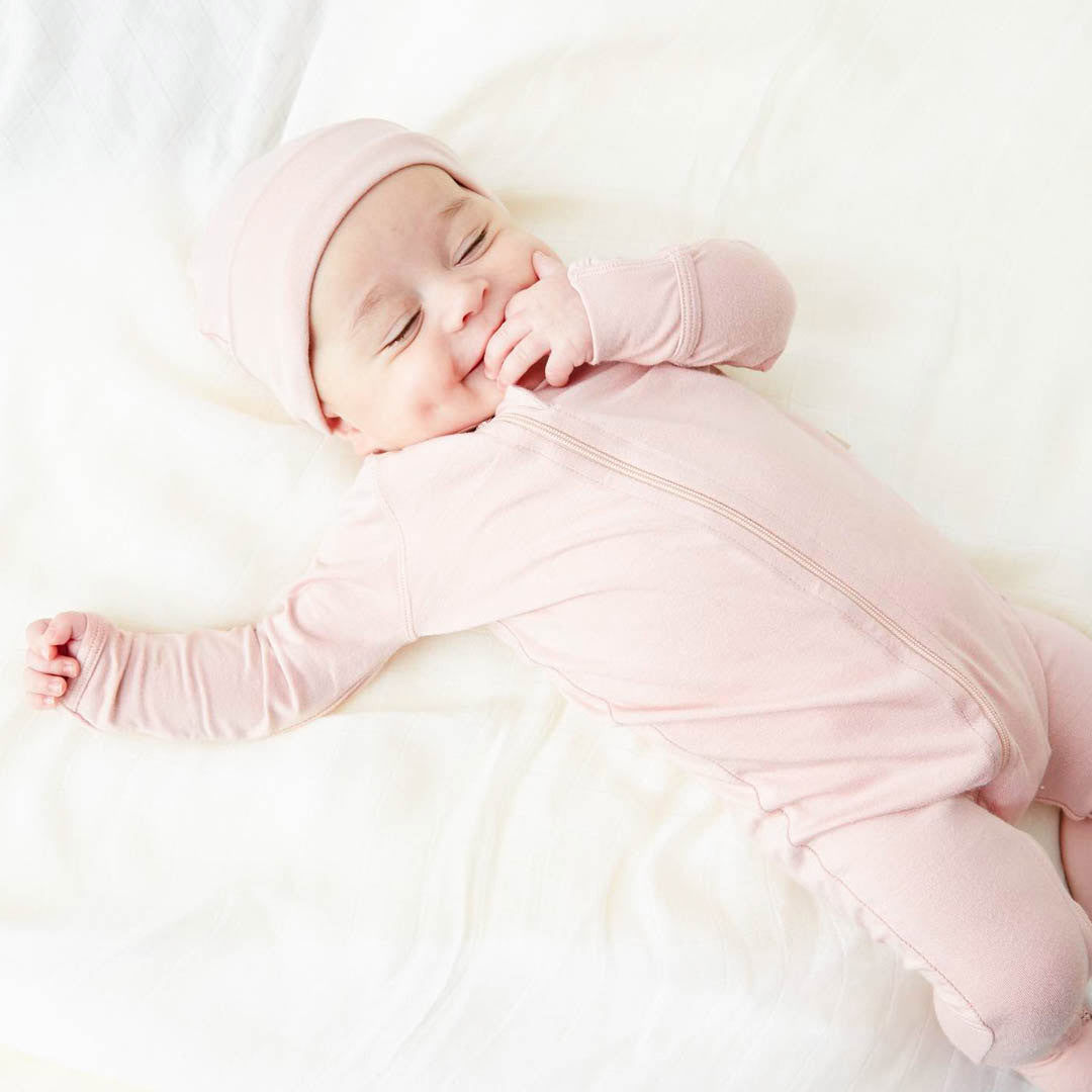 Boody baby onesie is super practical for new mums thanks to its 2-way zip.