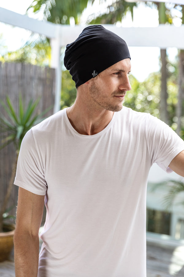 Soft Jersey Beanie in Black