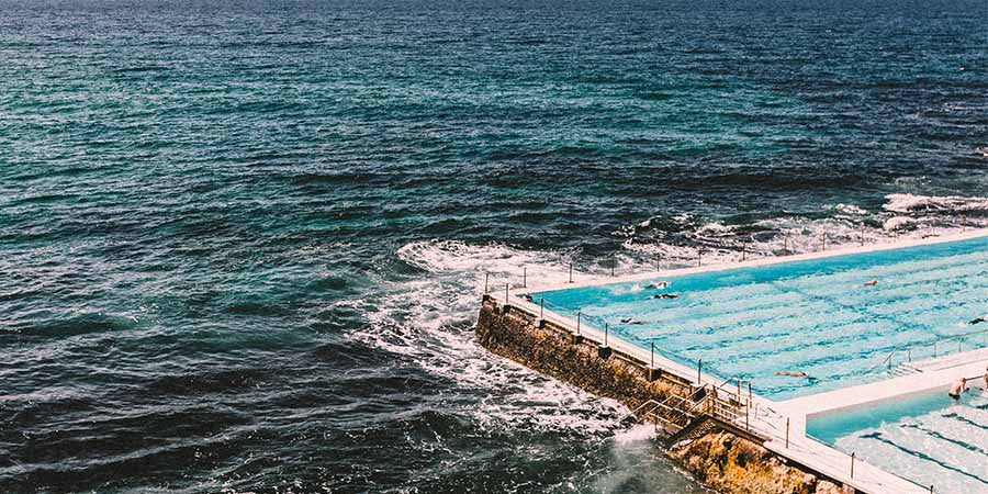 View on the Icebergs Swimming Pool on the Bondi to Bronte Coastal Walk