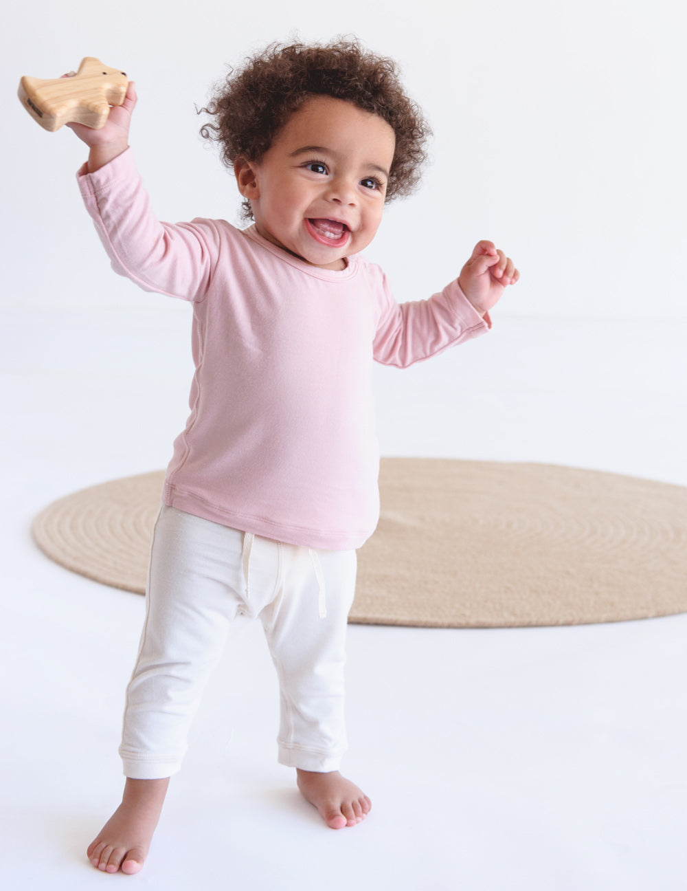 Baby Pull On Pants Chalk - Boody Baby