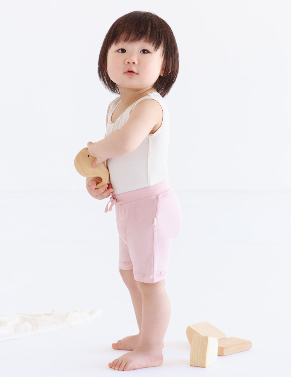 Baby Pull On Shorts Rose - Boody Baby