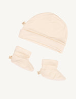 Baby Beanie & Booties Chalk - Boody Baby