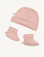 Baby Beanie & Booties Rose - Boody Baby