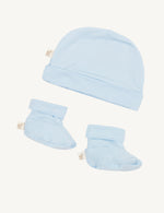 Baby Beanie & Booties Sky - Boody Baby