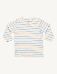 Baby Stripe Long Sleeve Top Chalk/Sky - Boody Baby