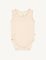 Baby Sleeveless Bodysuit Chalk - Boody Baby