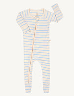 Long Sleeve Onesie - Chalk Sky Stripe - Boody Baby