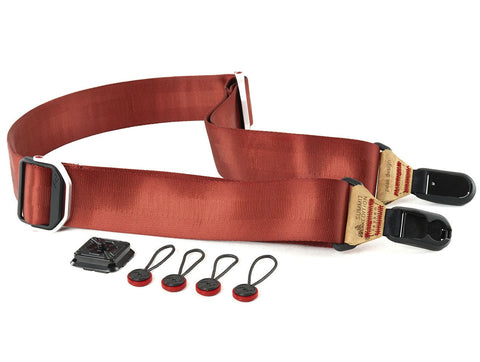 Peak Design Slide Camera Strap SL-L-2 (Red with Tan Leather) - RedExpose