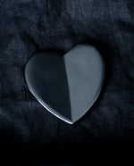 Black Obsidian Heart-Shaped Facial Massage Tool