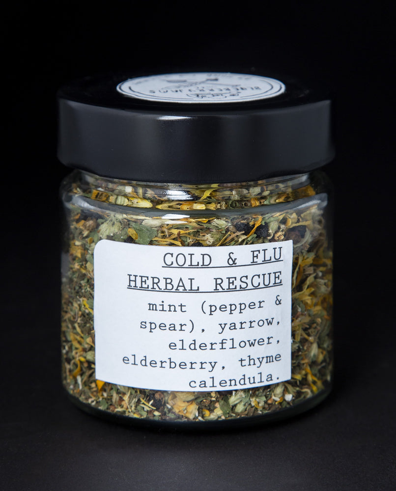 Cold & Flu Herbal Rescue Infusion - Blueberryjams