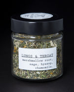 Lungs & Throat Herbal  Infusion - Blueberryjams