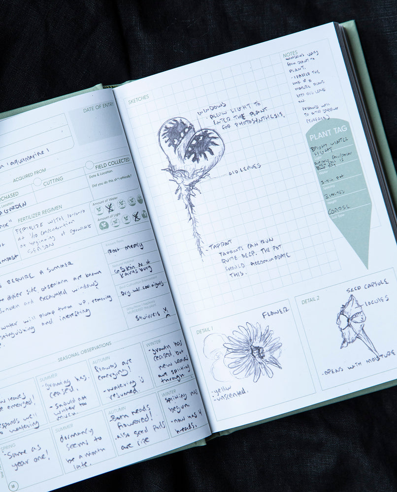 """Grow a Damn"" Plant Journal by Tyler Thrasher"