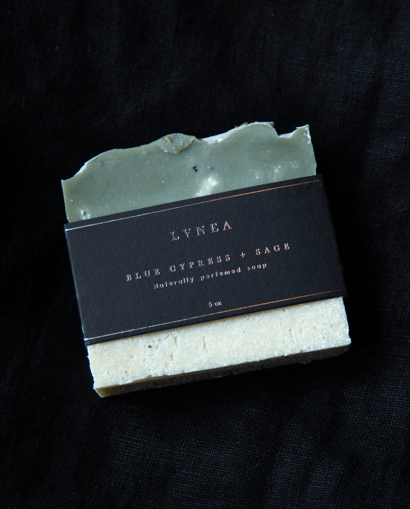 Blue Cypress and Sage - Naturally Perfumed Soap