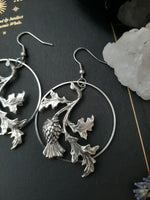 Thistle Hoop Earrings - Equinox Art
