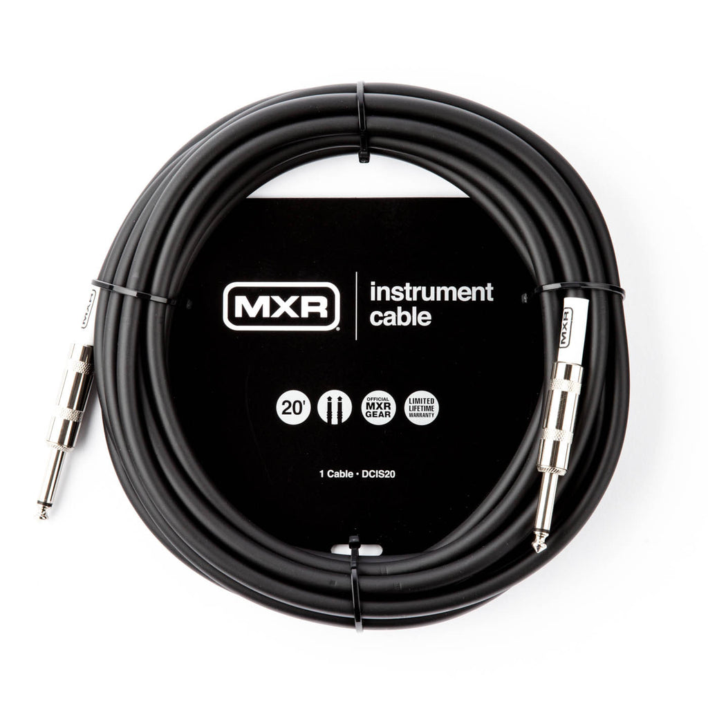 MXR Standard Instrument Cable 20ft SS or SR - The Rock Inn