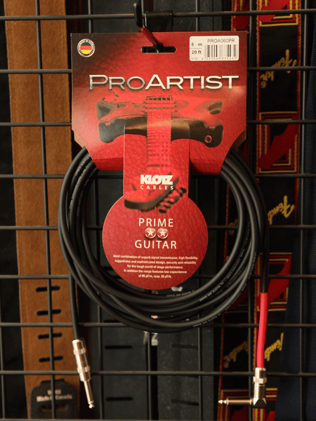 Klotz Pro Artist 20ft Guitar Cable - The Rock Inn