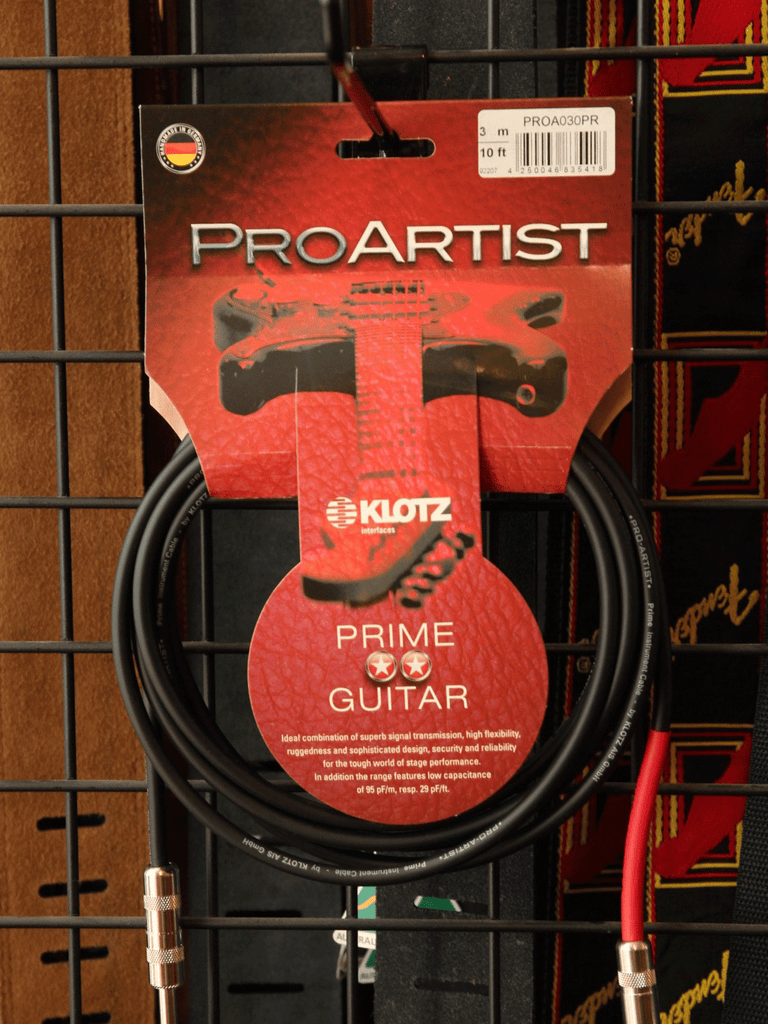 Klotz Pro Artist 10ft Guitar Cable - The Rock Inn