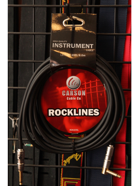 Carson Instrument Cable 20ft Straight/Right - The Rock Inn