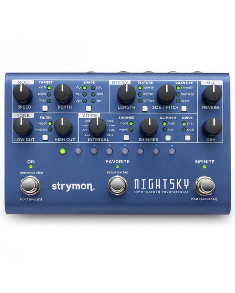 Strymon NightSky Time-Warped Reverberator Pedal