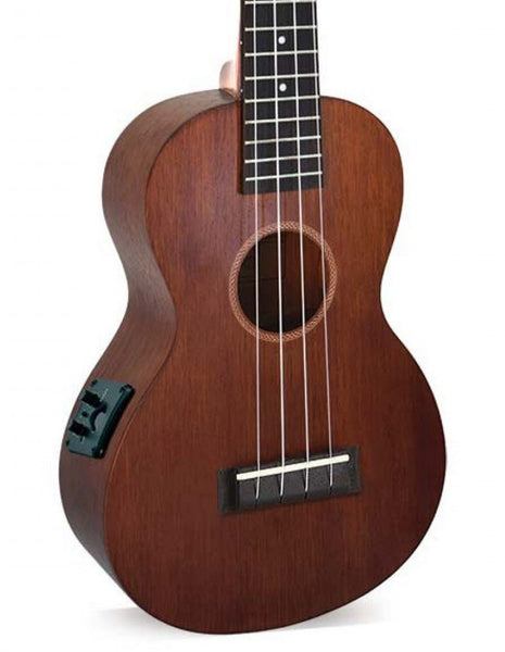 Mahalo MJ2VTTBR Java Acoustic-Electric Concert Ukulele