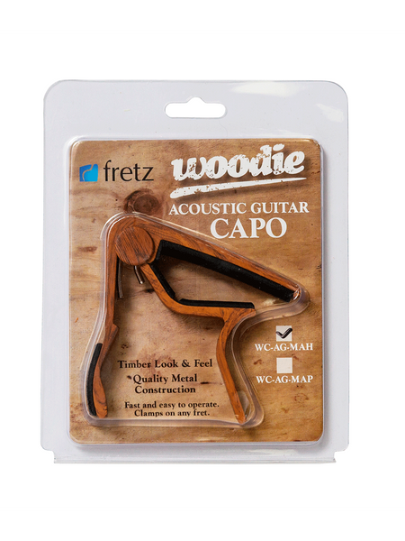 Capo - Fretz 'Woodie' Acoustic Capo Mahogany - The Rock Inn - 1