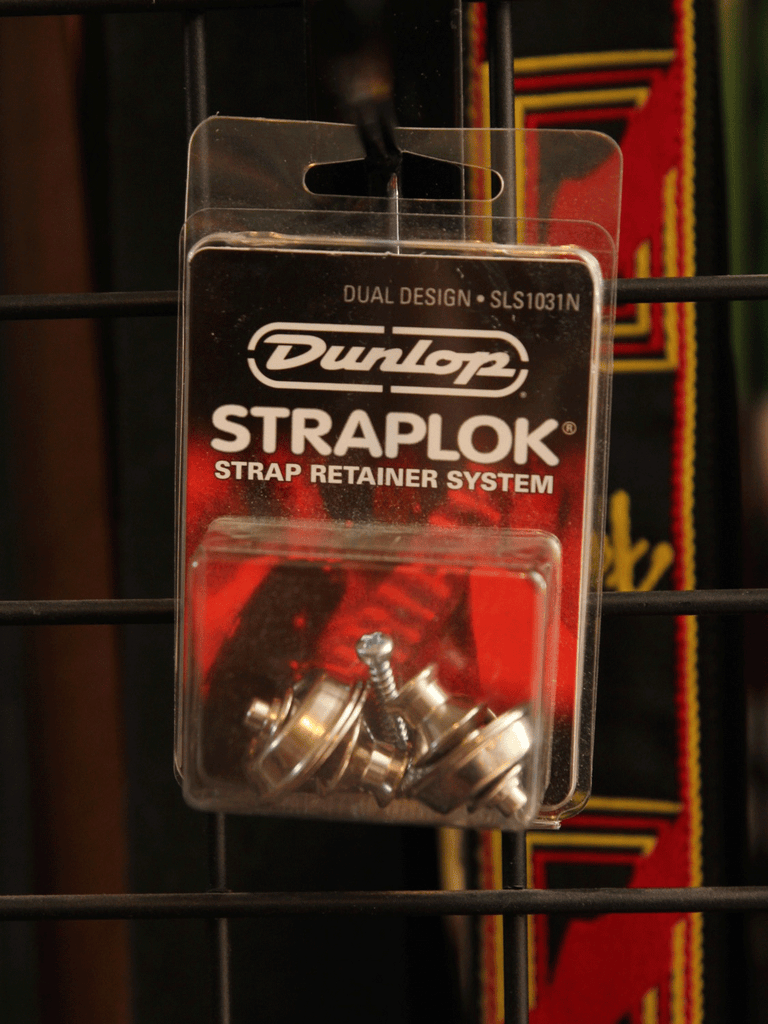 Strap Locks - Dunlop Strap Locks Nickel - The Rock Inn