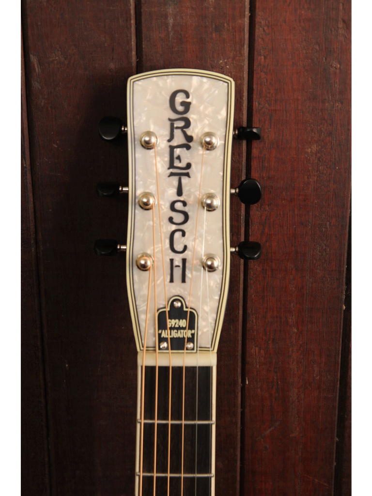 Gretsch G9240 Alligator Biscuit Round Neck Resonator 2-Color Sunburst - The Rock Inn - 4