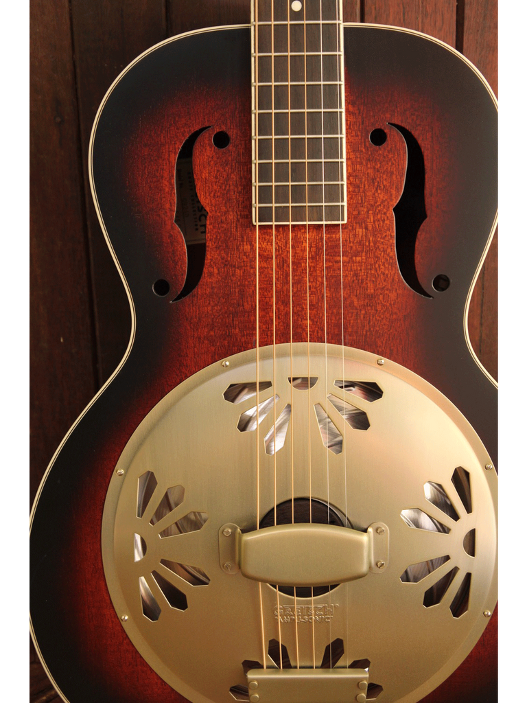 Gretsch G9240 Alligator Biscuit Round Neck Resonator 2-Color Sunburst - The Rock Inn - 3