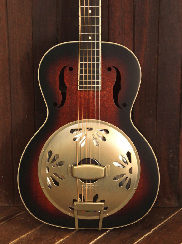 Gretsch G9240 Alligator Biscuit Round Neck Resonator 2-Color Sunburst - The Rock Inn - 1