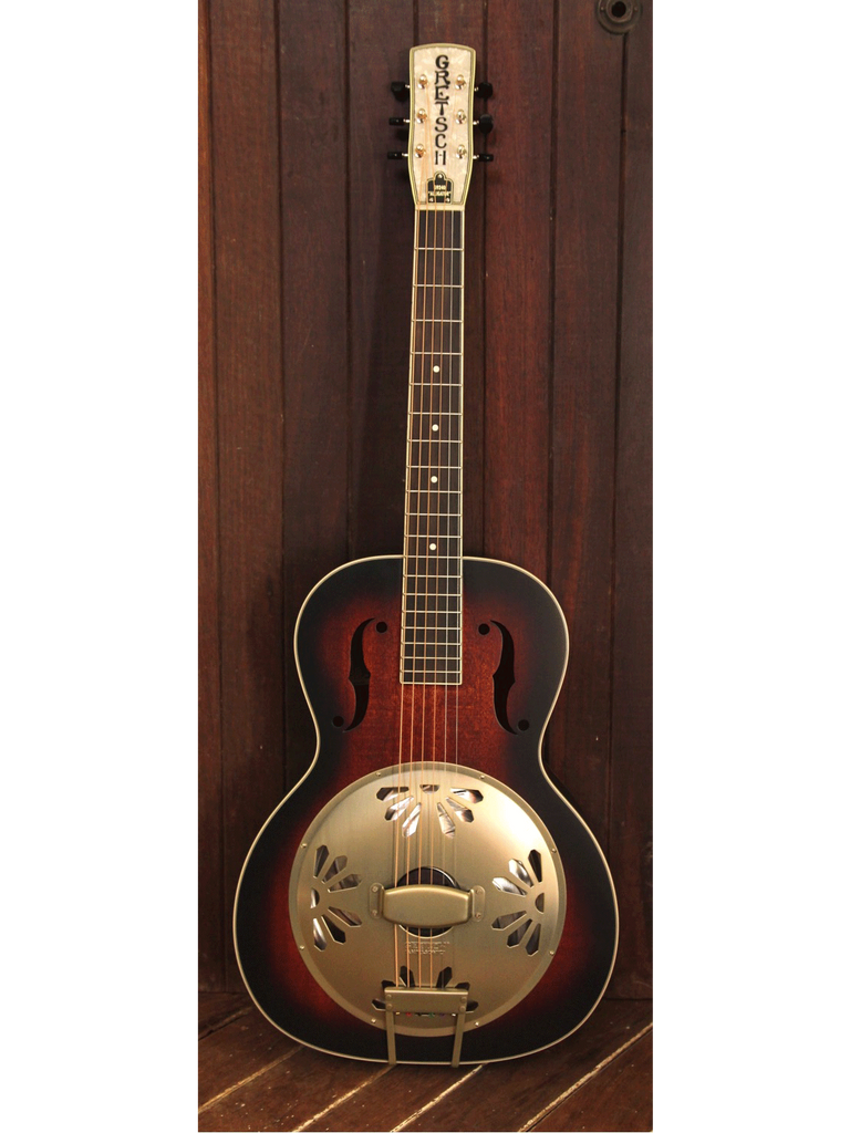Gretsch G9240 Alligator Biscuit Round Neck Resonator 2-Color Sunburst - The Rock Inn - 2