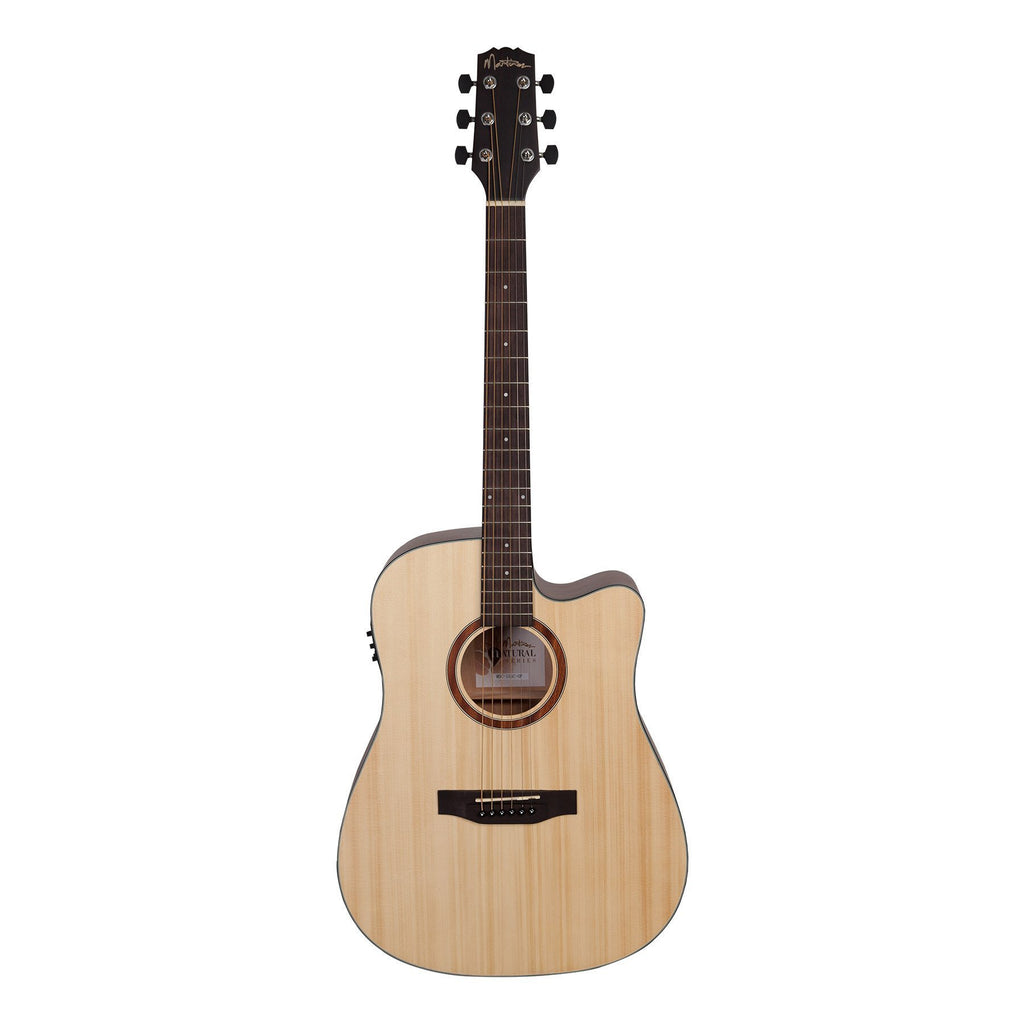 Martinez 'Natural Series' Solid Spruce Acoustic-Electric Dreadnought Cutaway Guitar